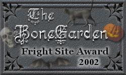 BoneGarden Fright Site Award